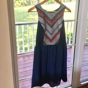 My Michelle Navy A Line Dress with Detail Top 3